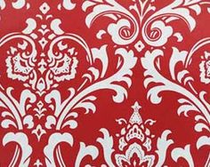 Damask Curtain Panels Red and White Damask by exclusiveelements, $99.00