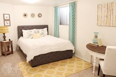 1970s Wood Panel Bedroom Bright Makeover!