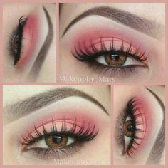 Amazing look by @makeupby_mars ❤ Products used: ♥BH Cosmetics eye corrector and primer ♥BH Cosmetics 120 palette 1st edition (2nd tray oranges on last row 5th shadow in and 9th shadow in) matte red in first tray and matte white ♥CREME lashes #62 ♥brown eye pencil  Steps: ●step1: prime eye ●step2:place matte white shadow on brow bone, come down to crease. ●step3:place the lightest shade of orange/coral shade on eye lid,keep it in the center and inner corner ●step4:place the darker shade of o...