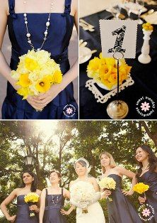 Show me pictures of your Blue color theme with Yellow accents! « Weddingbee Boards