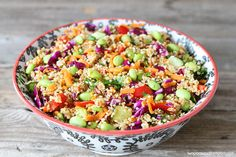 Asian Quinoa Salad-find the recipe on twopeasandtheirpod.com This healthy salad is always a hit!