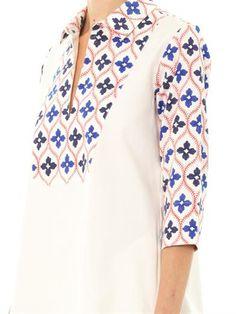 THIERRY COLSON Angellica printed bib shirt dress