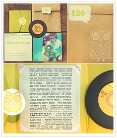 invitation wedding favors, vintage weddings, wedding invitations, vinyl, owl, festival wedding, unique weddings, retro vintage, big day