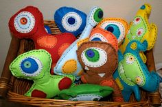 Little Monsters Felt Plushies children's party by JestersRealm