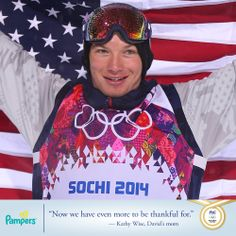 We salute Pampers athlete & dad, David Wise, on winning GOLD today in the men's ski half pipe !