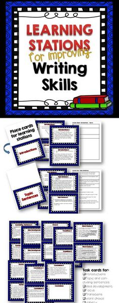 Teach and reinforce important writing skills with these learning stations.