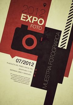 expofoto swiss style posters on the behance network