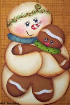 My two favorites at Christmastime  Snowmen & Gingerbread