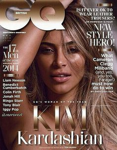 Kim Kardashian goes topless for the cover of British GQ