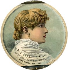 Lady Advertising Label