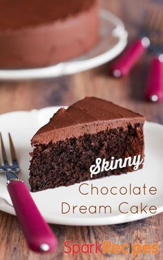 You know those cake recipes made with a mix and soda? This is kind of like that sans the soda. This recipe uses silken tofu instead for a dreamy chocolate cake result! | via @SparkPeople #food #easy