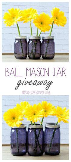 Purple Mason Jar Giv