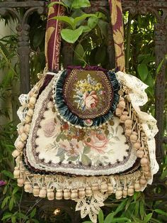 Needlepoint carpet bag