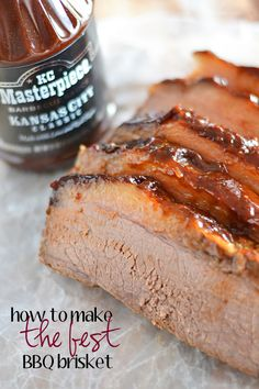 Just in time for summer entertaining - how to make the best BBQ brisket! #KCMasterpiece #ad