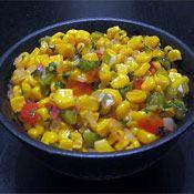 Vegan-Corn Salad with Cilantro Dressing (moderate potassium level)