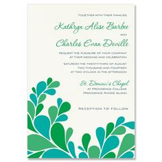 Petals Wedding Invitation - Unique Wedding Invitation by The Green Kangaroo