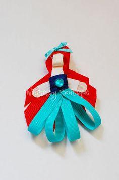 Disney Ariel ribbon sculpture Hair Clip
