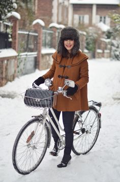 Winter cycling warmth in style.