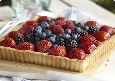 Driscoll's Red White and Blue Berry Tart www.driscolls.com