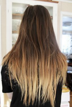 How To: Get DIY Ombre Hair for Under $10. kinda scary but I would do it a little before a haircut, in case it doesn't turn out.  Mom mom mom mom mom
