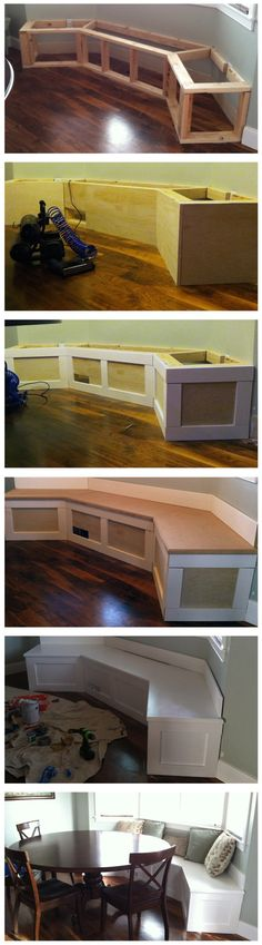 Built in bench for the kitchen table