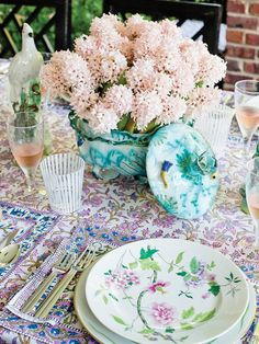 Pastel tablescape - from Tory Burch In Color
