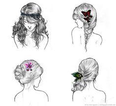 #Penteados #Cabelo #Desenho