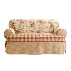 Sure Fit Lexington 1-Piece T Kick Pleat Skirt Loveseat Slipcover, Multi by Sure Fit, http://www.amazon.com/dp/B00801F3DA/ref=cm_sw_r_pi_dp_vvpLrb1Z9P2V7