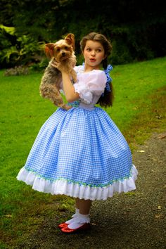 Dorothy Costume - Wizard of Oz Inspired Judy Garland Ruby Slippers