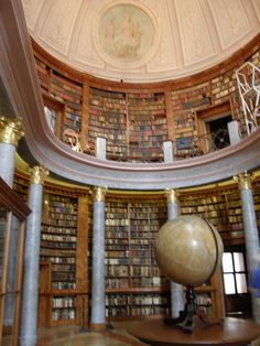 Library at Pannonhalma - Benedictine Monastery in Hungary
