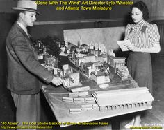 gwtw -Lyle Wheeler with town model.