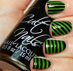 Let them have Polish!: 31 Day Challenge 2012! Day Twelve: Stripe Nails