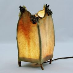 Hand made twig lamp.