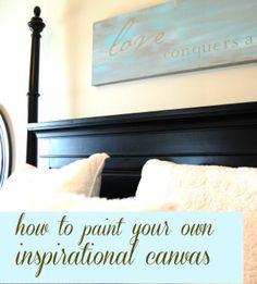 craft, decorating blogs, canvas quotes, diy canvas, inspirational quotes, diy wall art, inspir canva, diy wall decor, painted canvas