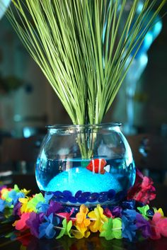 What a great centerpiece at an Under the Sea party!  See more party ideas at CatchMyParty.com!