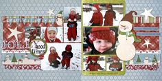 Two Page Winter layout