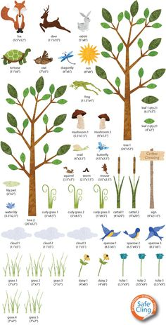 Wall Stickers, Forest Theme Decals for Baby Room