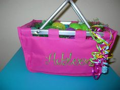 Green Personalized Market tote Easter Basket by grammeshouse, $20.00