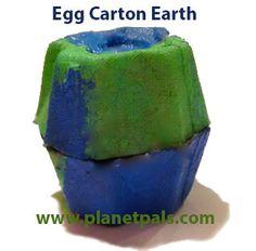 Egg Carton Earth #preschool #homeschool #teachers from Planetpals.com