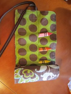 Crayon roll - Tutorial from pinterest