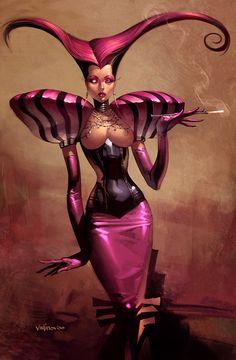Gothic innocence by ~velinov on deviantART artisticallycr inspir, illustr women, fantasi art, fairi tale, svetlin velinov, art fantas