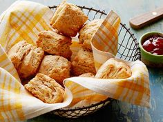 Whole-Grain Biscuits Recipe : Food Network Kitchens : Food Network - FoodNetwork.com