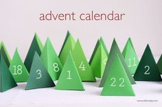 Advent Calender This year I wanted an advent scene. Versatile PDF for making this, to make a simple tree decoration or hanging ornaments.