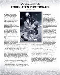 The Long Journey of a Forgotten Photograph - Andy O'Hara (Retired CHP Officer)