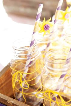 Tangled Birthday Party Drink Glasses