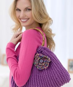 handbag, posey purs, free pattern, crochet bags, knitting patterns for purses
