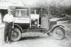 When this Maytag man went on a sales call, the passenger seat of his 1926 Model T went out—and a washing machine went in!