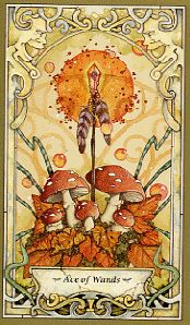 Ace of Wands from Mystic Faerie Tarot