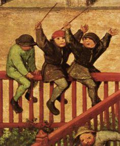 Pieter Breugel the Elder - Children's Games - detail (1559-60)