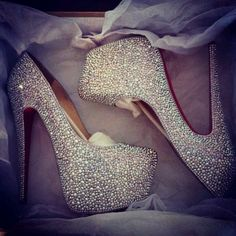 prom shoes, fashion, designer shoes, wedding shoes, weddings, christian louboutin, heels, glitter, bling bling
